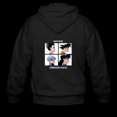 Saiyans Gorillaz Dragon Ball - Men's Zip Hoodie