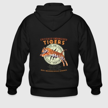 Save the Tigers - Endangered Species Awareness - Men's Zip Hoodie
