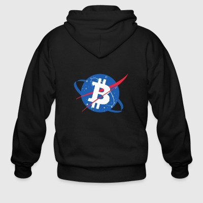 Bitcoin NASA - Men's Zip Hoodie