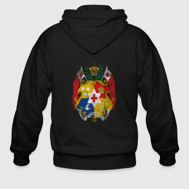 Tongan Coat of Arms Tonga Symbol - Men's Zip Hoodie