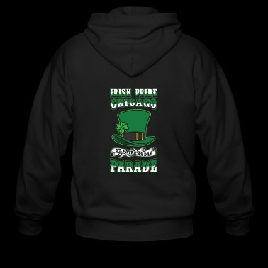 Irish Pride Chicago St. Patricks Day Parade Top - Men's Zip Hoodie