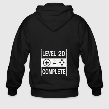 Level 20 Complete - Men's Zip Hoodie