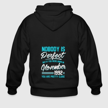 Born In November 1992 Pretty Close Perfect - Men's Zip Hoodie