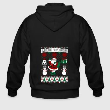 Christmas Ugly Sweater Overland Park Kansas - Men's Zip Hoodie