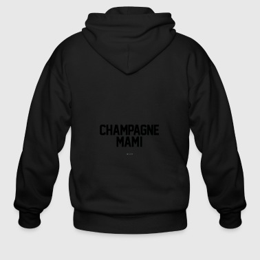 Champagne Mami White T shirt - Men's Zip Hoodie