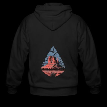 Monument Valley - Men's Zip Hoodie
