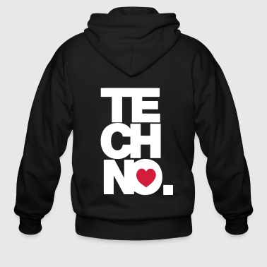 TECHNO MUSIC - Men's Zip Hoodie
