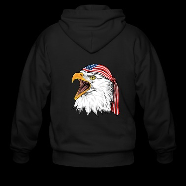 Bald Eagle 4th Of July Independence Day - Men's Zip Hoodie