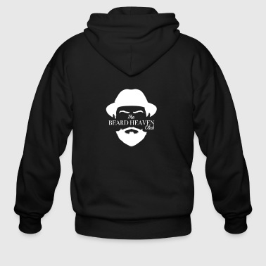 Beard Heaven Club White - Men's Zip Hoodie