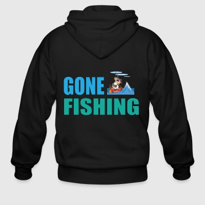 Gone Fishing No 2 - Men's Zip Hoodie