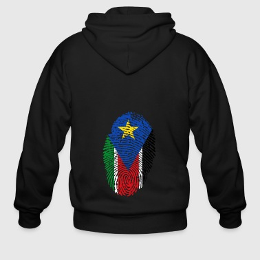 fingerprint i love wurzeln south sudan - Men's Zip Hoodie