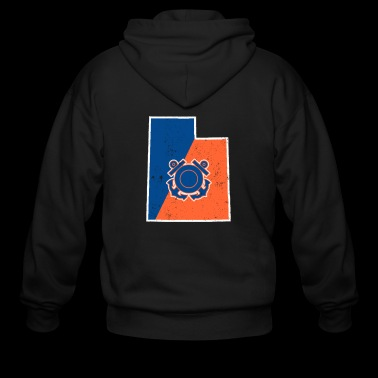 Utah Coast Guard Anchor Shirt Coast Guard Gifts - Men's Zip Hoodie