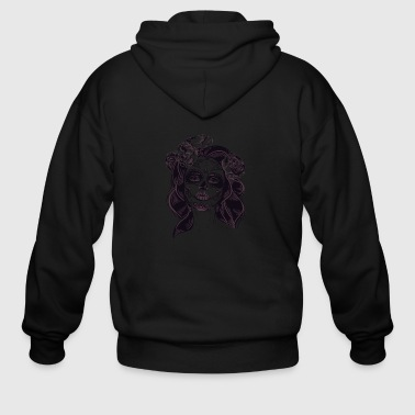 Masked Horror Woman - Men's Zip Hoodie