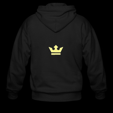 king crown logo - Men's Zip Hoodie