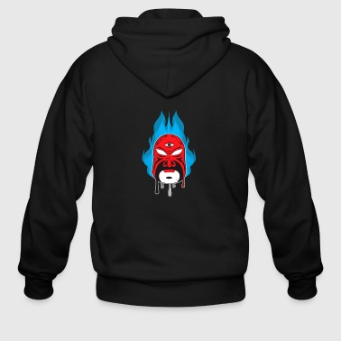 Chinese Opera Mask I - Men's Zip Hoodie