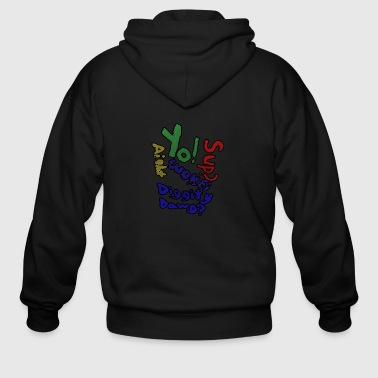 Moomaw_Text_Outlined - Men's Zip Hoodie