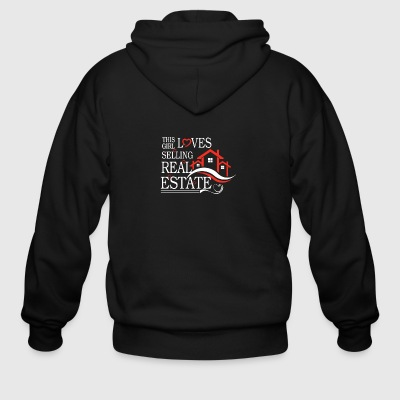 This Girl Loves Sellin Real Estate Shirt - Men's Zip Hoodie