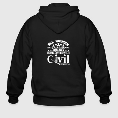 Civil Engineer Tshirt - Men's Zip Hoodie
