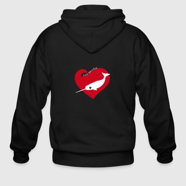 Love Narwhal Tee Shirt - Men's Zip Hoodie