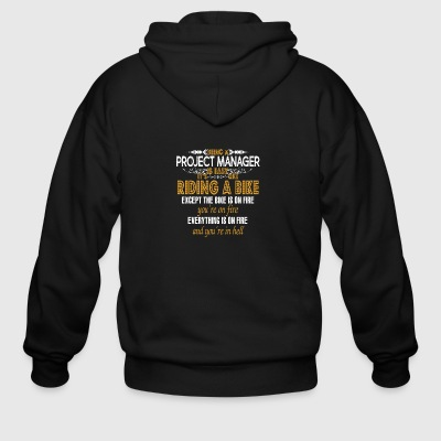 Being a Project Manager Is Easy - Men's Zip Hoodie