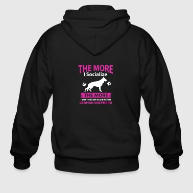 Funny German Shepherd designs - Men's Zip Hoodie