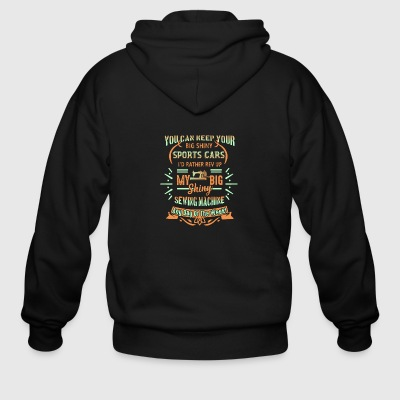 Sewing Machine Shirt - Men's Zip Hoodie