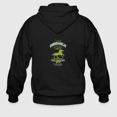 i m a horse on the road - Men's Zip Hoodie