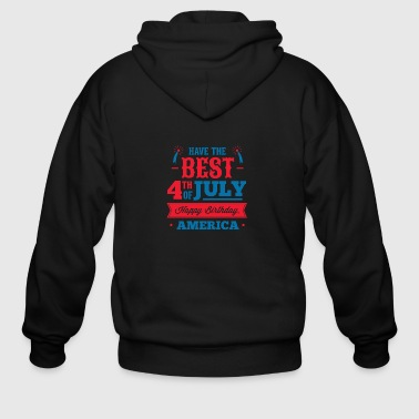 have_a_best_4th_july - Men's Zip Hoodie