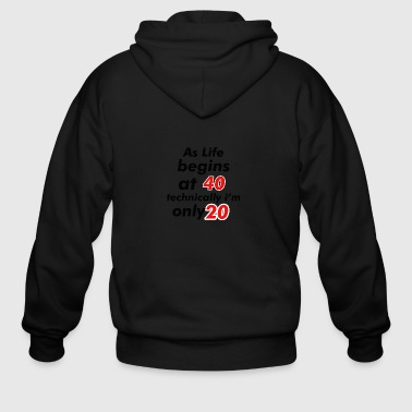 20 birthday design - Men's Zip Hoodie