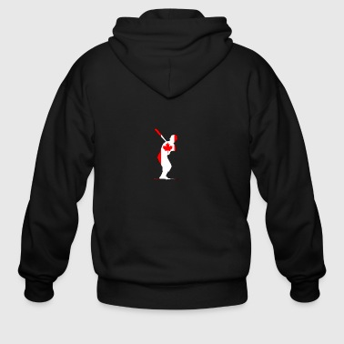 Canada Flag - Batter - Men's Zip Hoodie