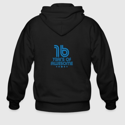 16 Years Of Awesome 16th Birthday - Men's Zip Hoodie