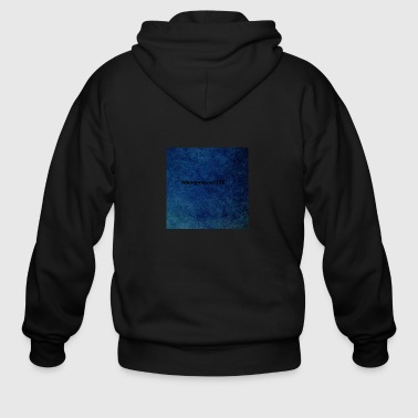 sea blue grunge texture2 - Men's Zip Hoodie