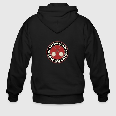 American country banjo music - Men's Zip Hoodie