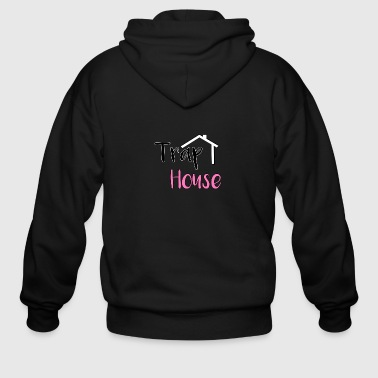 Trap House inspired by 2 Chainz. - Men's Zip Hoodie