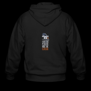 F.ck the plastic ride the classic - Men's Zip Hoodie