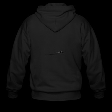 towing a glider - Men's Zip Hoodie