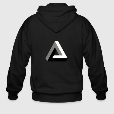 Penrose 3D illusion - Men's Zip Hoodie