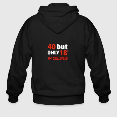 Funny 40 year old designs - Men's Zip Hoodie
