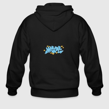 maj_graffiti_blue - Men's Zip Hoodie