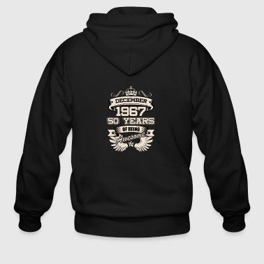 December 1967 50 Years Birthday Present Love Idea - Men's Zip Hoodie