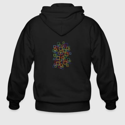 abstract - Men's Zip Hoodie