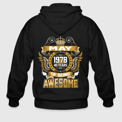 May 1978 40 Years Of Being Awesome - Men's Zip Hoodie