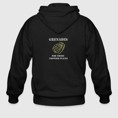 Grenades for those crowded places - Men's Zip Hoodie