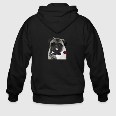 Secret Agent Pug - Men's Zip Hoodie