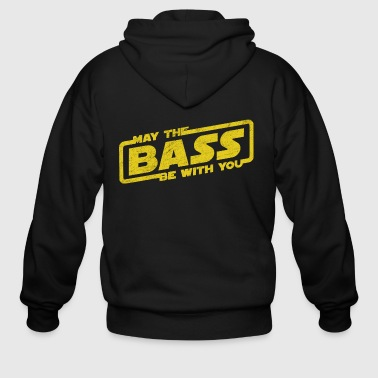May The Bass Be With You Electro Party Techno EDM - Men's Zip Hoodie