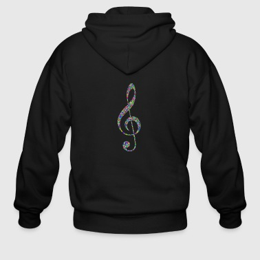 colorful musical note - Men's Zip Hoodie