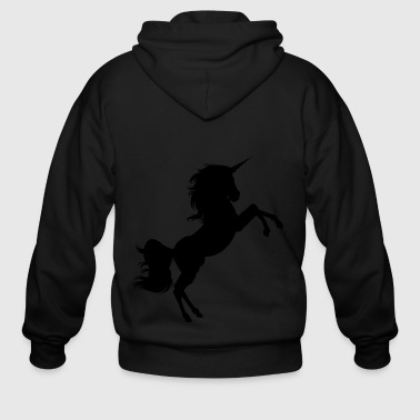 Black Unicorn - Men's Zip Hoodie