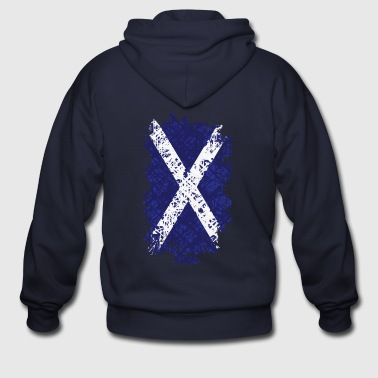 Flag of Scotland - Men's Zip Hoodie
