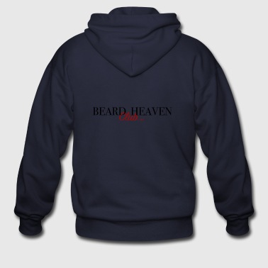 Beard heaven club label - Men's Zip Hoodie