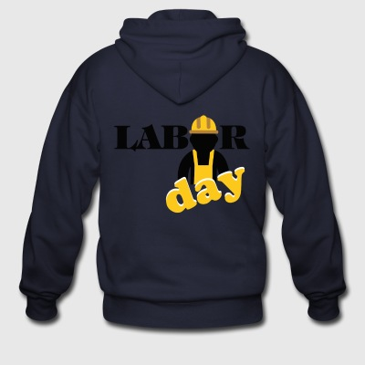 labor day shirt, Happy labor day shirt - Men's Zip Hoodie